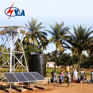A tensão CC alimentada a energia solar Furo Bombas para piscina e a lagoa
