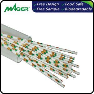 Palha de papel potável biodegradável