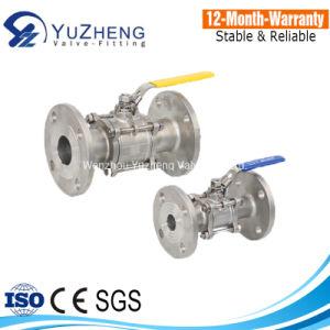 China Fabricação de Aço Inoxidável 3PC Flange da Válvula de Esfera