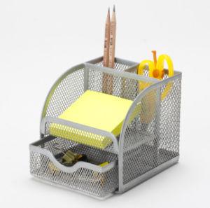 사무용품 책상 조직자 금속 메시 문구용품 조직자 사무실 책상 부속품
