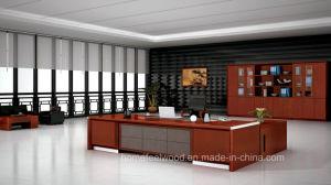 Modèle de conception moderne avec étagère en bois bureau exécutif