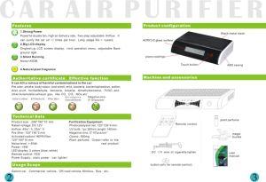 Анион очиститель воздуха для автомобилей с 500 миллионов ионов ПК