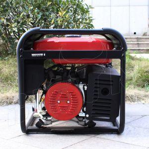 バイソン(中国) BS6500L 5kwの実際の出力電力強いフレームの新型5kVAの単一フェーズの発電機