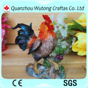 Standbeeld van de Haan van de Hars van de Decoratie van de tuin het Met de hand gemaakte voor Verkoop