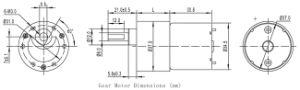 Micro caixa de velocidades motor 12V DC para cortadores de relva eléctrico