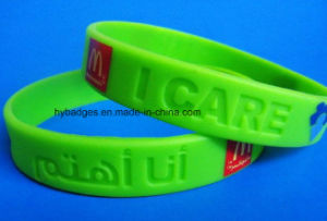 Il Wristband impermeabile del silicone, festival presenta (GZHY-SW-003)