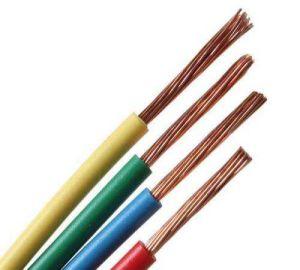 PVC Elevadores eléctricos de fiapos de energia ZR-BV/BVV//Bvr/RV/Rvv cobre do fio do cabo