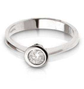 anello di oro bianco 18K con il diamante (LRD1267)