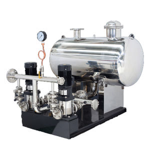 L'équipement pour alimentation en eau sous pression du réseau de tube sans pression
