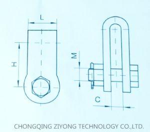 Ub (pedazo de hembra) de tipo horquilla para conexiones de enlace de la línea aérea