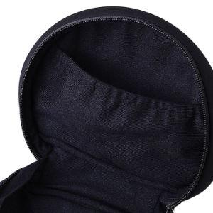 ファスナーを絞める耐久財が付いている袋を詰めるBlack/PUの革イヤホーンのあたりでカスタマイズされる
