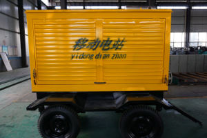 500kw 625kVAのディーゼル発電機のCummins Engineの携帯用トレーラーの水によって冷却される発電機