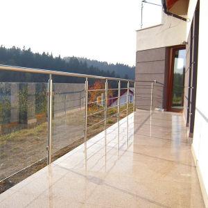 Roestvrij staal 316 van het Balkon van het Flatgebouw het Stevige Traliewerk van de Staaf