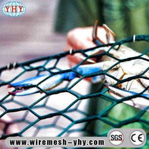 Recubierto de PVC malla hexagonal para el cangrejo