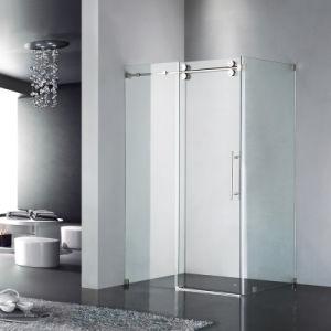 10-12 мм из закаленного стекла душ корпуса с помощью ролика системы скольжения