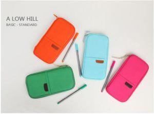 Neuer Entwurfs-Form-Schule-Briefpapier-Kasten-Doppelt-Reißverschluss-Bleistift-Beutel-Pass-Beutel (GB#30086)