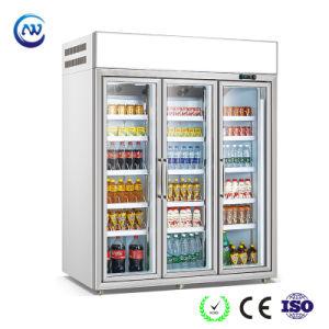 Congelatore verticale della vetrina fatto in Cina (LG-196)