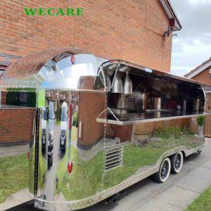 Mobile Nahrungsmittelkarre mit gebratener Nahrungsmittelmaschine