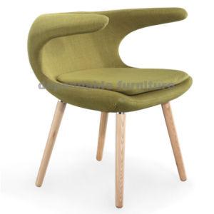 Moderner Entwurfs-Möbel-hölzernes Bein-Frost-Lehnsessel-Gewebe, das Stuhl speist