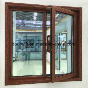 Thermal Break Janela de alumínio com o Interior Clading sólidos de madeira