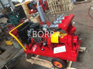 Chariot Mobile Fin d'aspiration pompe à eau de lutte contre les incendies de gazole