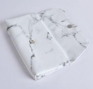 2018 Fashion cuir synthétique en marbre Sac cosmétique Sac de maquillage