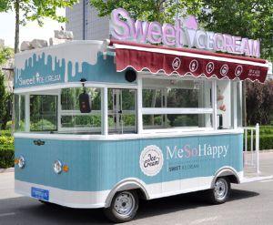 Для мобильных ПК производства мороженого питание погрузчика ролик продажа тележки обжаренные продукты Ван