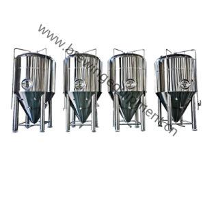 Acero inoxidable brillante depósito de cerveza para la planta de Cervecería