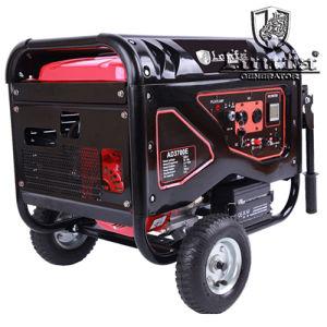 Silencio eléctrico generador 4.5kVA gasolina gasolina generador con ruedas y asas