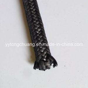 Экранирующая оплетка из политетрафторэтилена черного цвета с упаковки графит