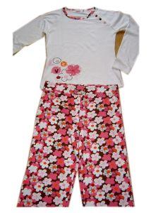 100%년 면 소녀 잠옷 L/S 최고 Aop 바지 아이들은 아기를 착용한다 잠을 착용한다 착용한다