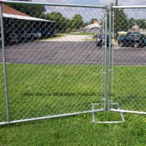 Rete fissa provvisoria rivestita della rete metallica di collegamento Chain del PVC per il giardino