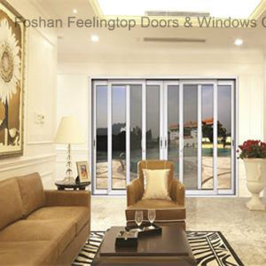 Portello scorrevole di vetro di alluminio residenziale (FT-D80)