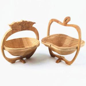 Bambú creativo cestas de frutas naturales ampliables