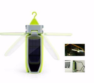 Подвешенные клевер складные Аккумуляторный светодиод на солнечных батареях