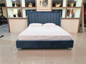 Tissu Velet haut la tête de lit canapé-lit King Size chambre à coucher Mobilier