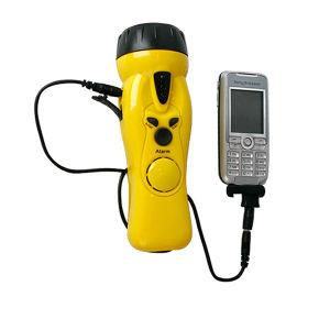 ハンクのLEDの懐中電燈が付いている不安定なポータブルFMのラジオ
