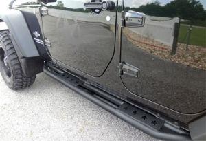 Paso laterales de acero para Jeep Wrangler Jk 4Dr.