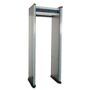 戸枠の金属探知器を通る6つのゾーンの歩行 (DFMD)