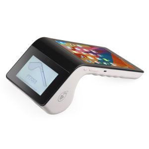 Il lettore magnetico astuto Bluetooth WiFi 4G del registratore di cassa della stampante Android terminale della ricevuta di posizione del ridurre in pani NFC EMV si raddoppia posizione dello schermo di tocco