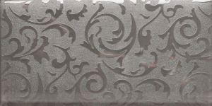 Prata Mosaico Mosaico de tijolos de vidro com um design padrão de papel de parede