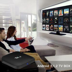Androide intelligente Fernsehapparat-Kasten Tx2 Rk3229 2GB RAM/16GB ROM-gesetzter Spitzenkasten-Stützzutreffendes Spielen 4K