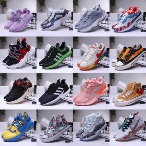 Salida de fábrica al por mayor de baloncesto de la ejecución de las botas de fútbol zapatillas Zapatos de lona