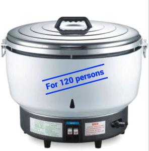 Gran cocina de arroz de gas de 23l con Innerpot de fundición de aluminio para 120 personas