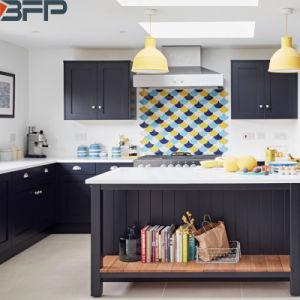 Estilo do sacudidor preto Armários de cozinha modernos móveis domésticos