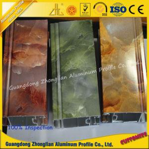 Perfil de aluminio extrusionado de grano de mármol para el marco de la ventana