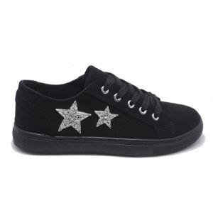 Inyección de estrellas dobles del ocio popular estudiante mujer zapatos de goma