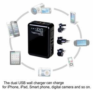 Cargador de pared doble puerto USB desmontable con tapón de EE.UU.