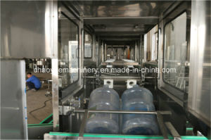 자동적인 3-5 갤런 액체 Barreled 큰 병에 넣은 물 세척 채우는 캡핑 기계