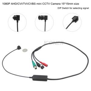 La taille de la Chine offre 15*15mm HD1080p Ahd/tvi/CVI/CVBS sténopé cachés de Surveillance de la sécurité Mini caméra de vidéosurveillance de la Banque de surveillance ATM